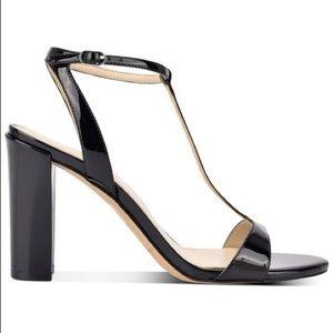 NWT Marc Fisher Black patent leather Toria Sandal